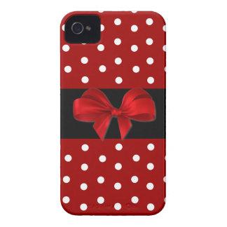 Capa de iphone 4 vermelho das bolinhas capinhas iPhone 4