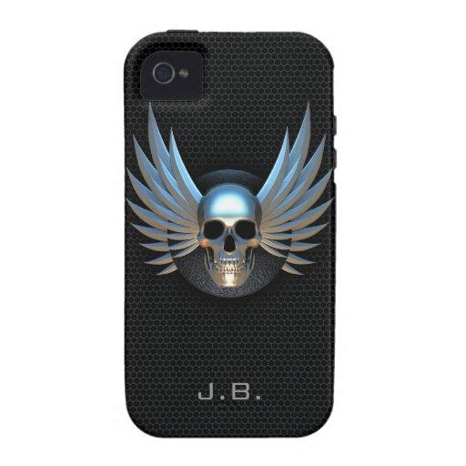 Capa de iphone 4 voado azul do crânio capa para iPhone 4