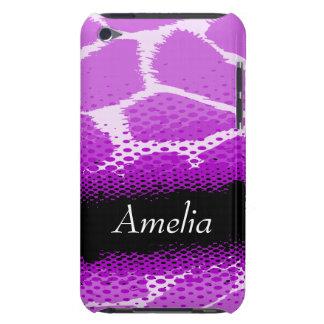 Capa de ipod animal gráfica roxa & preta do impres capa para iPod touch