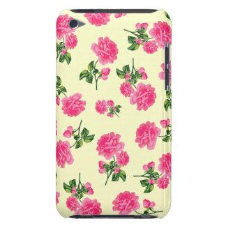 Capa de ipod cor-de-rosa dos rosas do vintage -