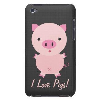 Capa de ipod customizável dos porcos do amor de I