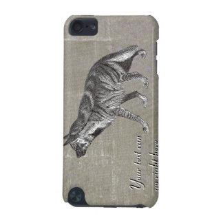 Capa de ipod da hiena listrada do vintage capa para iPod touch 5G