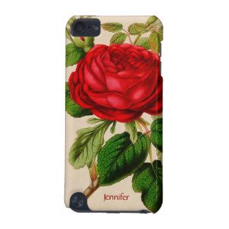 Capa de ipod da rosa vermelha do vintage
