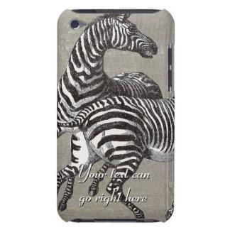 Capa de ipod das zebras do vintage
