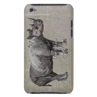 Capa de ipod do rinoceronte do vintage capa para iPod touch