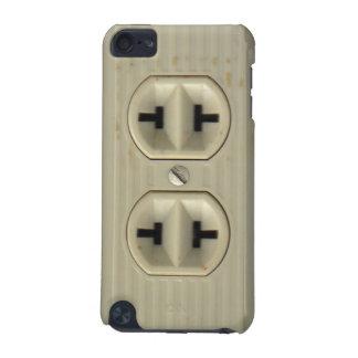 Capa de ipod do soquete de parede do vintage capa para iPod touch 5G