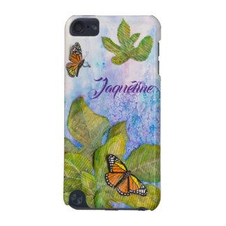 Capa de ipod personalizada com borboleta & folhas