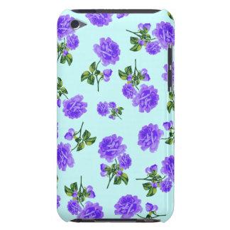 Capa de ipod roxa dos rosas do vintage - azul