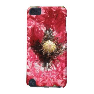 Capa de ipod vermelha bonito do macro da flor da