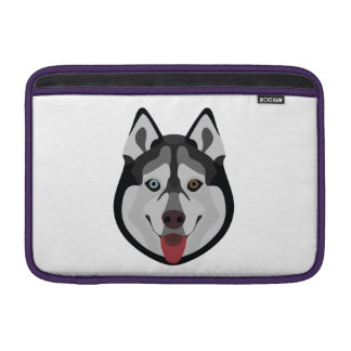 Capa De MacBook Air A ilustração persegue o rouco Siberian da cara