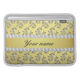 Capa De MacBook Air A prata sae bagas do diamante de Bling da folha de
