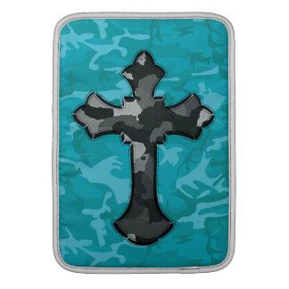 Capa De MacBook Air Camo azul com cruz