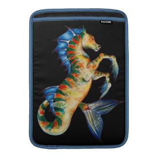 Capa De MacBook Air cavalo marinho no preto