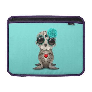 Capa De MacBook Air Dia azul do leão de mar inoperante do bebê