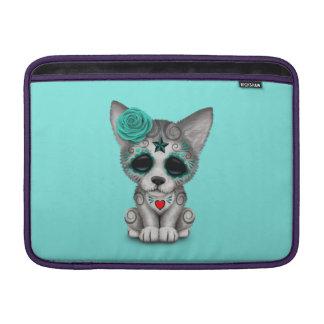 Capa De MacBook Air Dia azul do lobo Cub inoperante