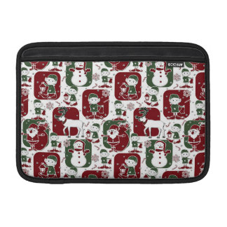 Capa De MacBook Air Duendes & bonecos de neve do Natal