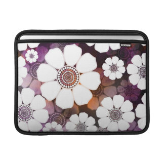 Capa De MacBook Air Flower power roxo Funky
