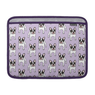 Capa De MacBook Air Frenchie Pied encapuçado dobro feliz