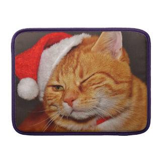 Capa De MacBook Air Gato alaranjado - gato de Papai Noel - Feliz Natal