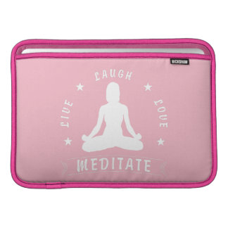 Capa De MacBook Air O amor vivo do riso Meditate o texto fêmea
