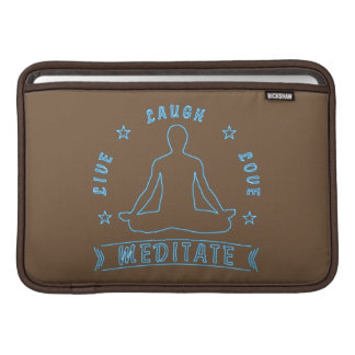Capa De MacBook Air O amor vivo do riso Meditate o texto masculino (o