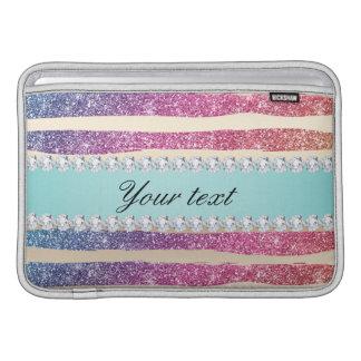 Capa De MacBook Air O brilho do arco-íris do falso listra o ouro dos