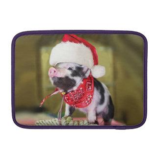 Capa De MacBook Air Porco Papai Noel - porco do Natal - leitão