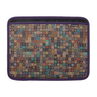 Capa De MacBook Air Retalhos do vintage com elementos florais da