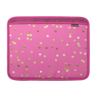 Capa De MacBook Air Rosa quente dos confetes na moda da folha de ouro