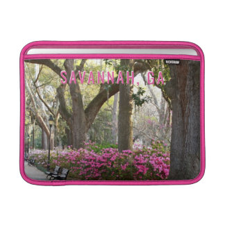 Capa De MacBook Air Savana GA em azáleas do rosa do parque do