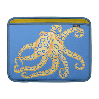 Capa De MacBook Air Vitral azul do polvo