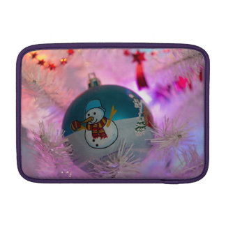 Capa De MacBook Boneco de neve - bolas do Natal - Feliz Natal