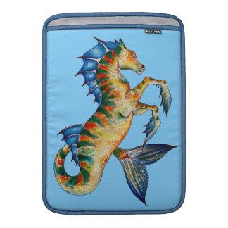 Capa De MacBook Cavalo marinho no azul