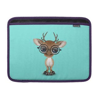 Capa De MacBook Cervos Nerdy do bebê que vestem vidros