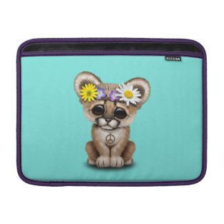 Capa De MacBook Hippie bonito de Cub do puma