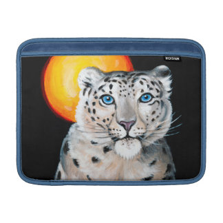 Capa De MacBook Lua do leopardo de neve