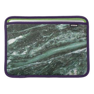 Capa De MacBook Luva de ar de pedra de mármore verde de Macbook da