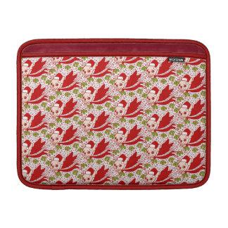 Capa De MacBook Natal com um Frenchie