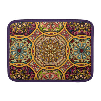 Capa De MacBook Retalhos do vintage com elementos florais da