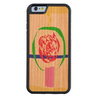 Capa De Madeira Cerejeira Bumper Para iPhone 6 A vela e o relâmpago
