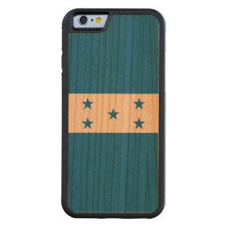 Capa De Madeira Cerejeira Bumper Para iPhone 6 Bandeira de Honduras