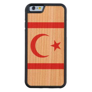 Capa De Madeira Cerejeira Bumper Para iPhone 6 Bandeira do norte de Chipre