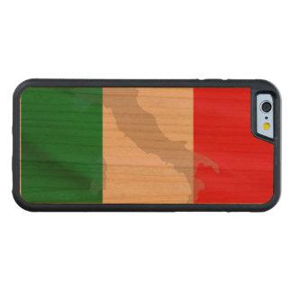 Capa De Madeira Cerejeira Bumper Para iPhone 6 bandeira e Italia italianas