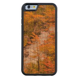 Capa De Madeira Cerejeira Bumper Para iPhone 6 Cena colorida da paisagem da floresta, Patagonia