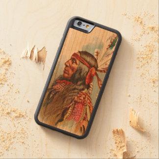 Capa De Madeira Cerejeira Bumper Para iPhone 6 Chefe de Gros Ventre: Lobo magro
