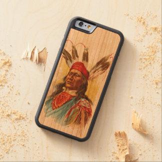 Capa De Madeira Cerejeira Bumper Para iPhone 6 Chefe de Sioux do Pawnee: Urso de pressa