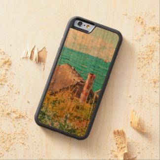 Capa De Madeira Cerejeira Bumper Para iPhone 6 Claude Monet a cabine em belas artes do