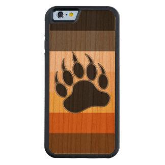 Capa De Madeira Cerejeira Bumper Para iPhone 6 Cores do orgulho do urso da pata de urso