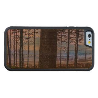 Capa De Madeira Cerejeira Bumper Para iPhone 6 Costa de mar da praia do rubi