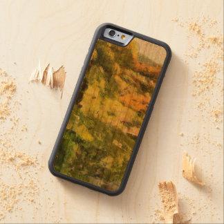 Capa De Madeira Cerejeira Bumper Para iPhone 6 Costa de um lago pequeno